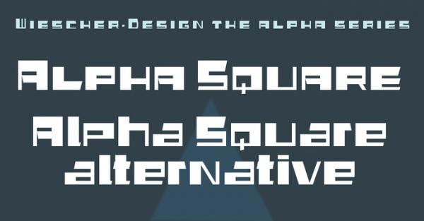 Fantastic Alpha Square Font
