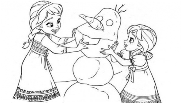 FREE 14+ Frozen Coloring Pages In AI PDF