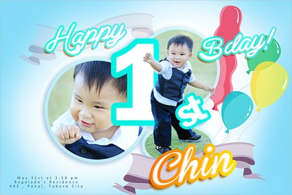 First Birthday Banner