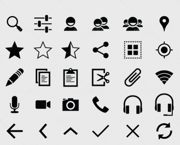 flat design android icons1