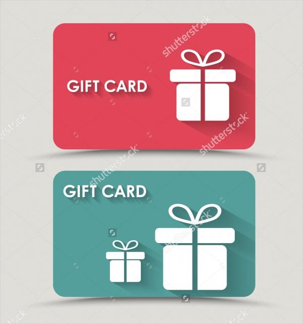 Flat Gift Card Design