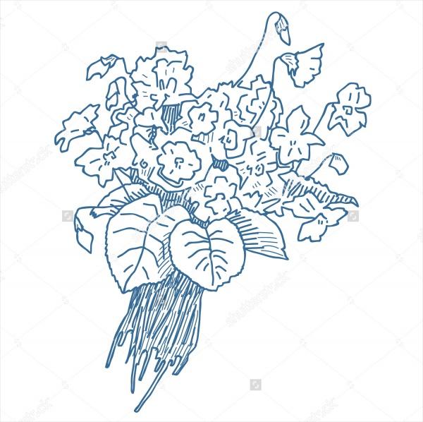 flower bouquet drawings