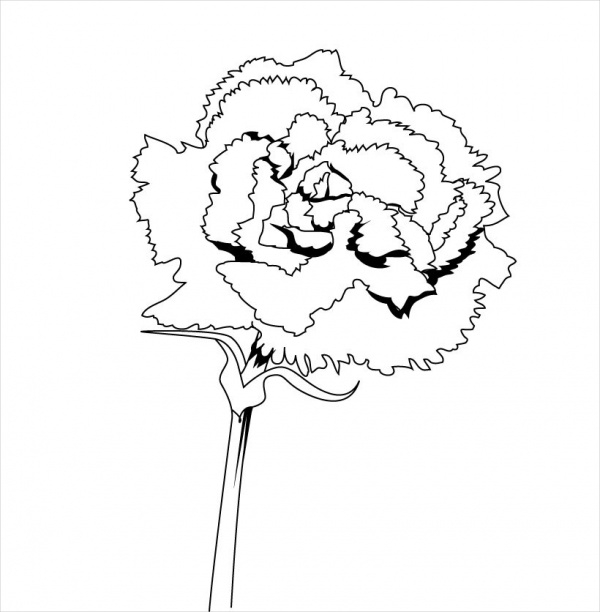 Flower Coloring Page For Free