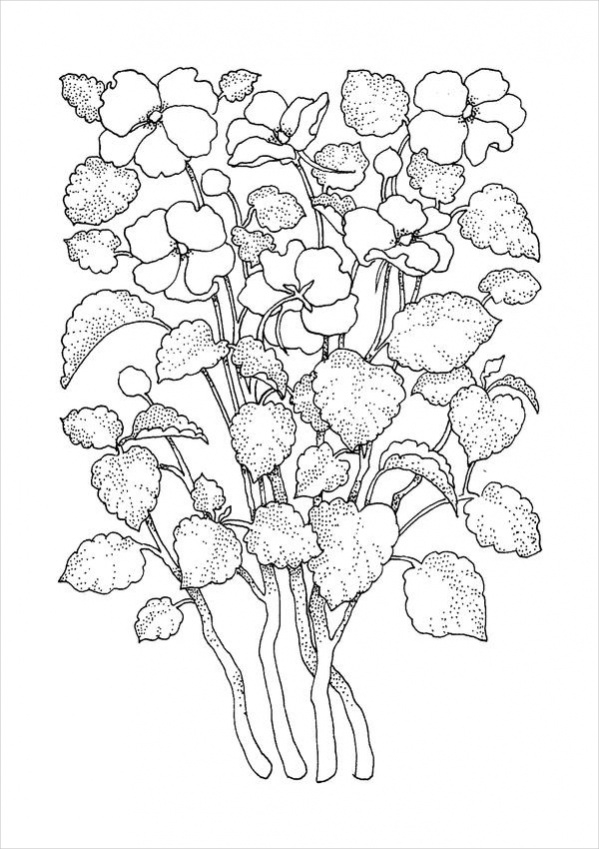 Wedding Coloring Page 32 | Flower coloring pages, Wedding coloring ... | 849x599