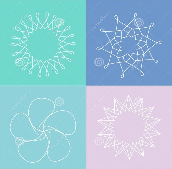 flower line drawings