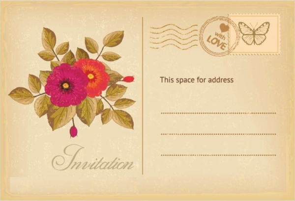 Flower Postcard Design
