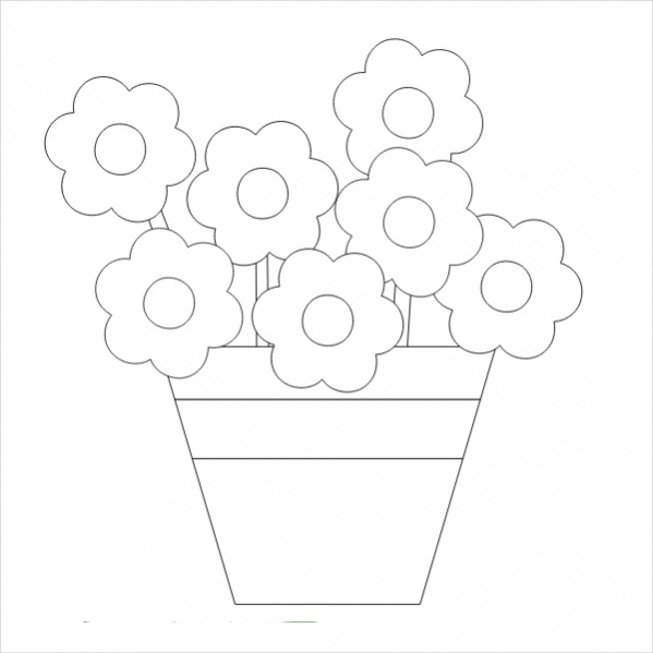 FREE 19+ Flower Coloring Pages In PDF AI
