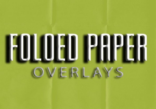 Folded Paper Texture Overlays