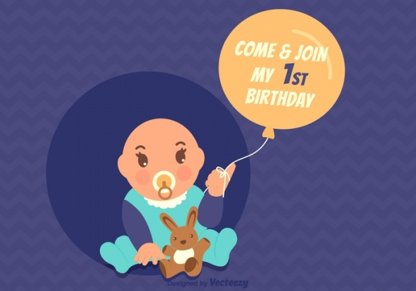 free 1 st birthday invitation