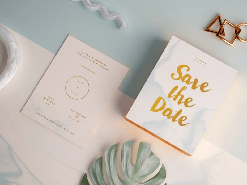 Free 3D Save The Date Template
