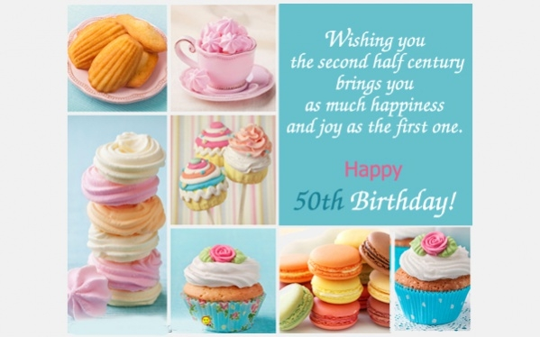 Free 50th Birthday Ecard