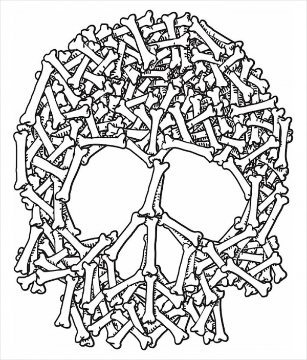 Free Adult Halloween Coloring Page