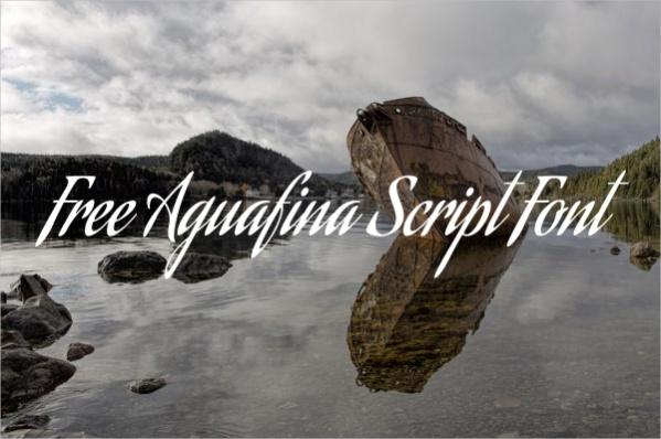 Free Aguafina Script Font