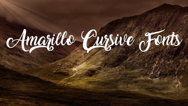 Free Amarillo Cursive Fonts