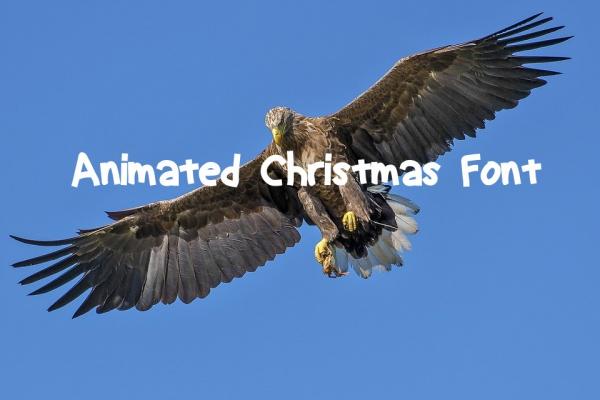 Free Animated Christmas Font