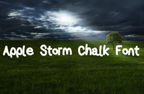 Free Apple Storm Chalkboard Font