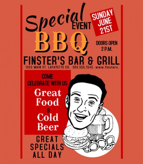 Free BBQ Leaflet Poster Design