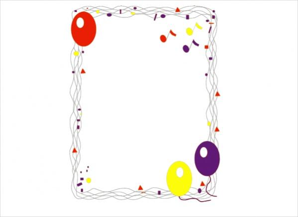 Free Ballon Border Clip Art