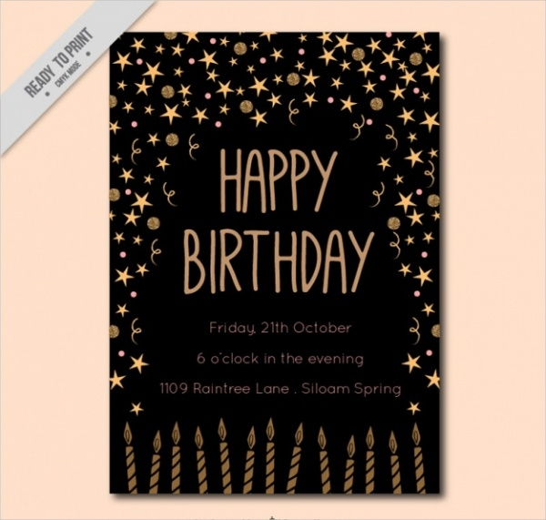 free birthday party invitation design