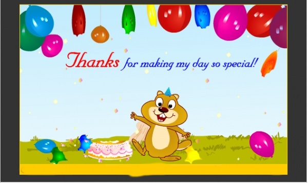 Free Birthday Thank You Ecard