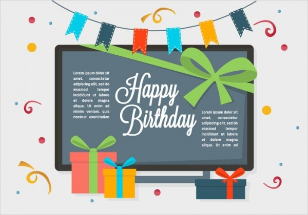 free birthday vector greetings