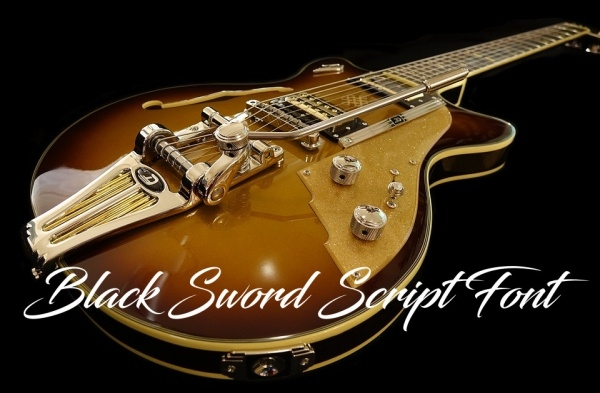 Free Black Sword Script Font