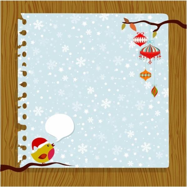 Free Blank Christmas Ecard