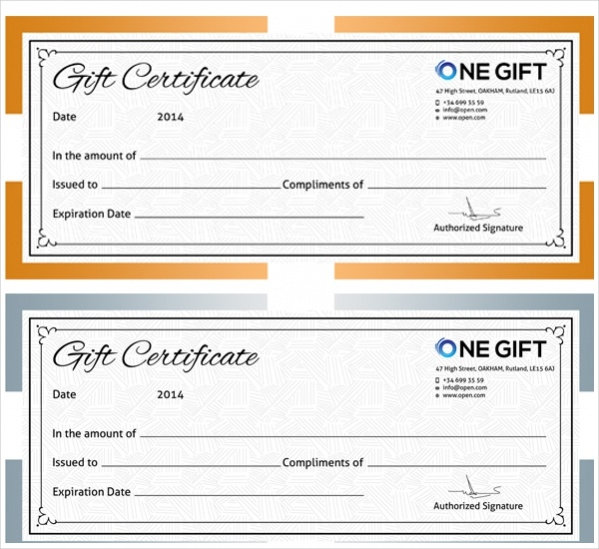 design a gift certificate template free - 16 free gift certificates psd vector eps download