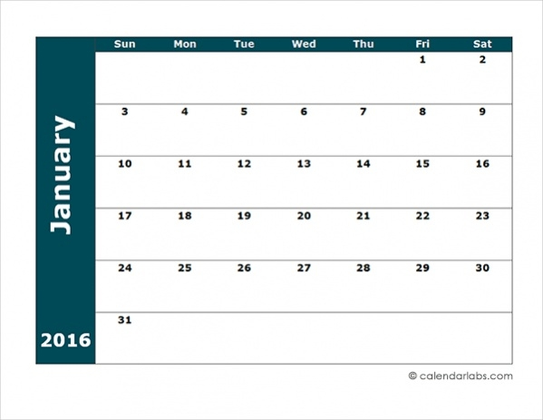 Quarterly Calendar Design : Free monthly calendars psd vector eps excel download