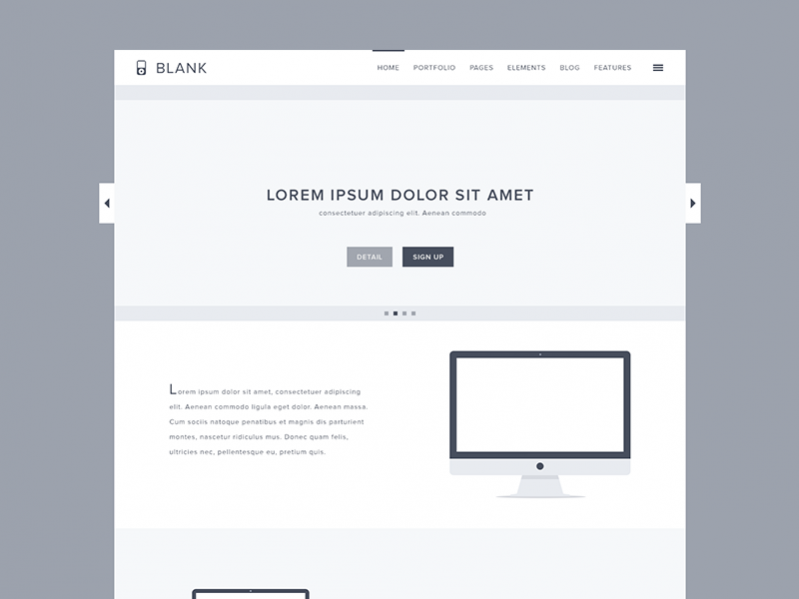 Free Blank Website Template