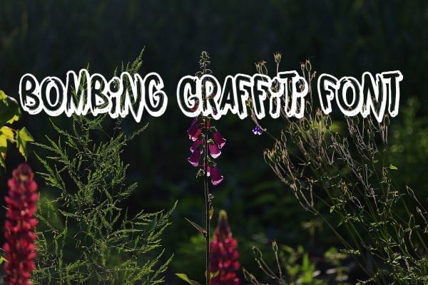 Free Bombing Graffiti Font