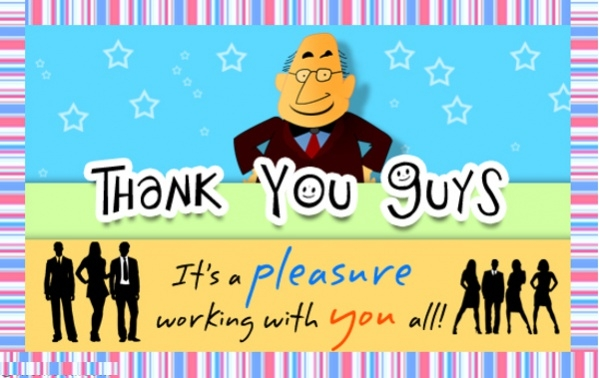 Free Boss Day Thank You Ecard