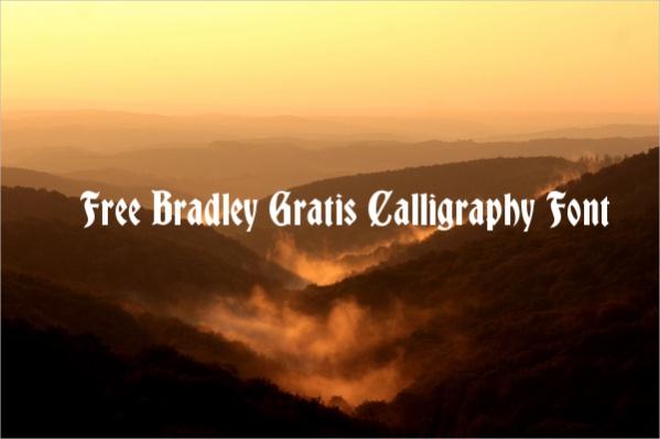 Free Bradley Gratis Calligraphy Font