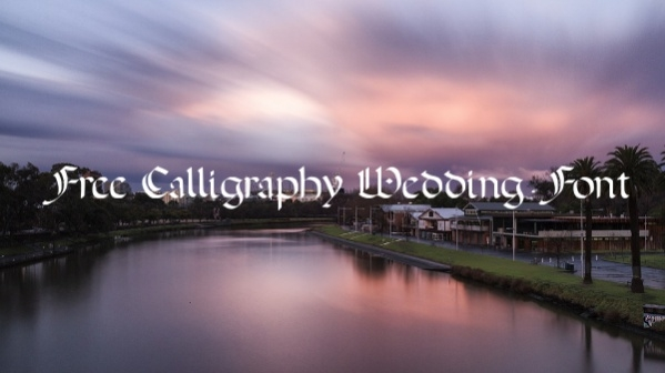 Free Calligraphy Wedding Font
