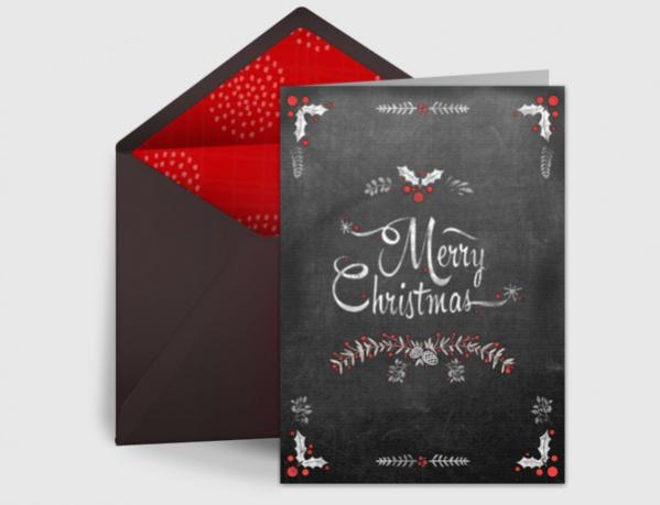 Free Chalk Christmas Ecard
