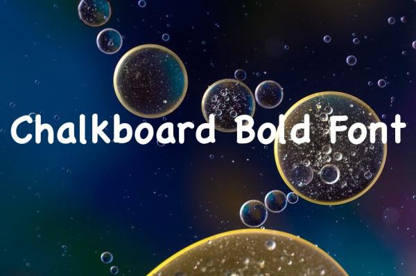Free Chalkboard Bold Font