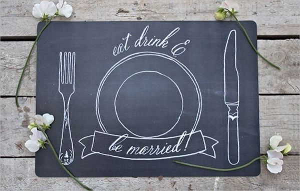 Free Chalkboard Type Wedding Printables