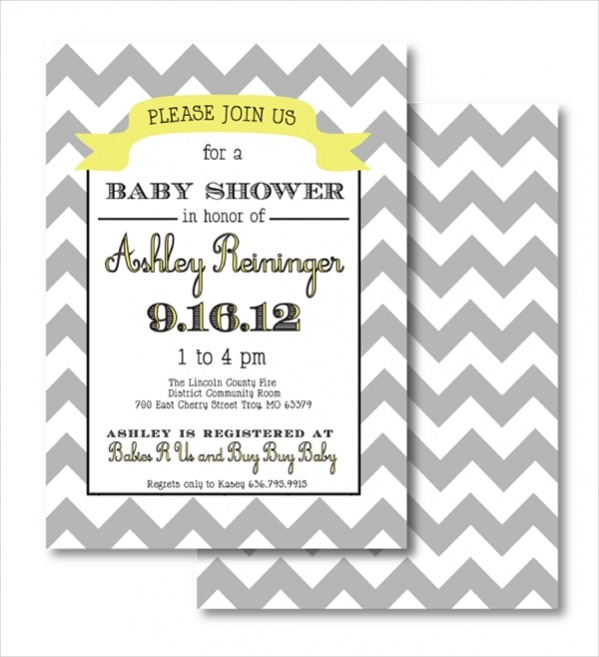 Free Chevron Baby Shower Printable