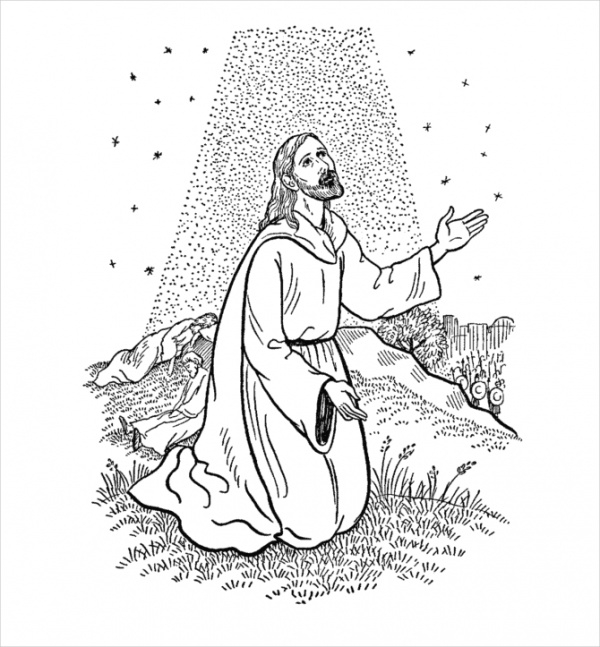 Free Christian Easter Coloring Page
