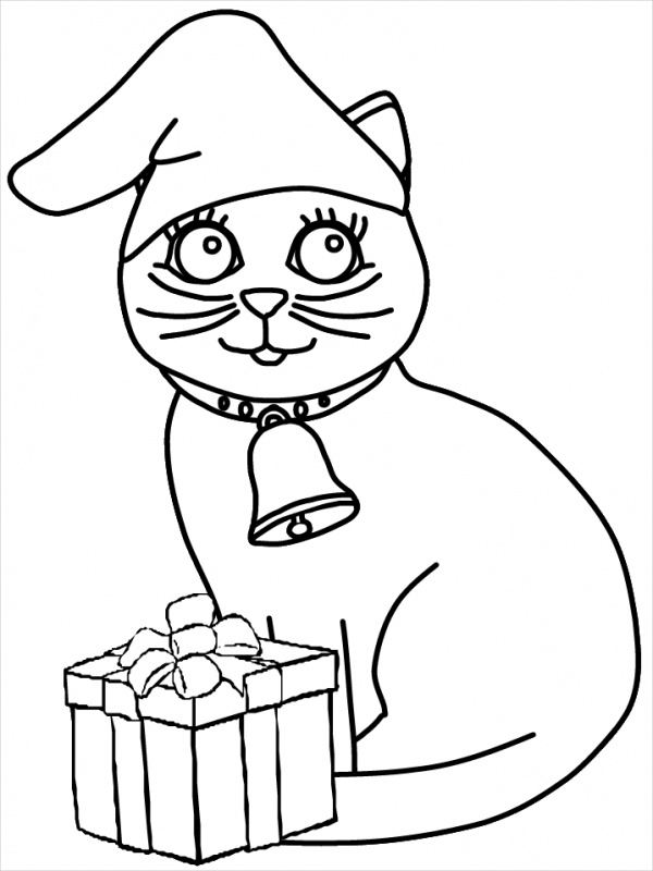 Free Christmas Animal Coloring Page