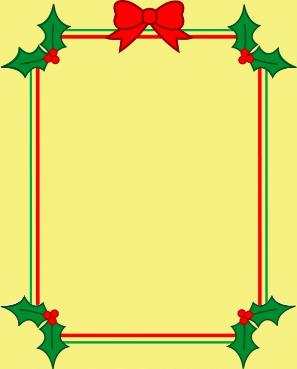 Free Christmas Border Clip Art