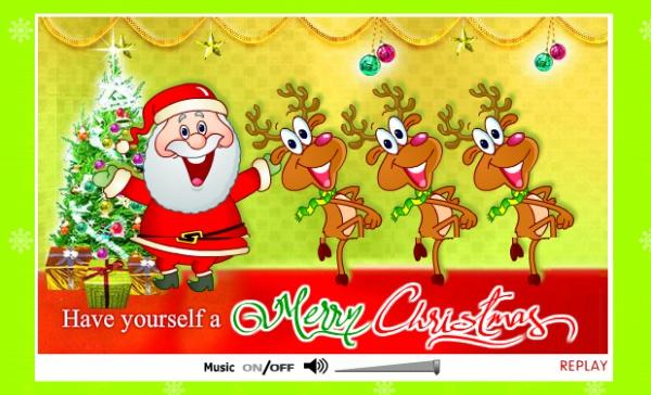 Free Christmas Greeting Ecard Design