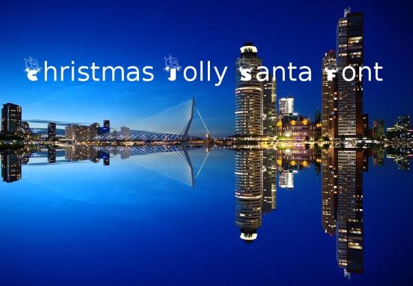 Free Christmas Jolly Santa Font