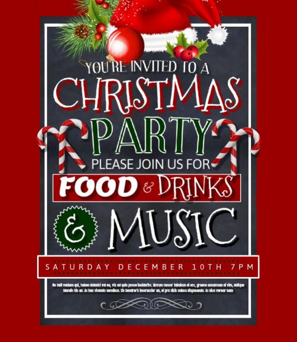 Free Christmas Leaflet Poster Design
