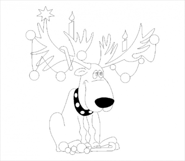 Free Christmas Lights Coloring Page