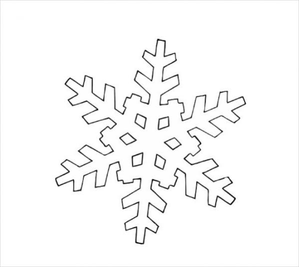 Free Christmas Snowflake Coloring Page