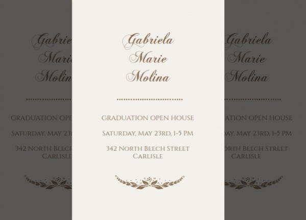 Free Classic Graduation Invitation