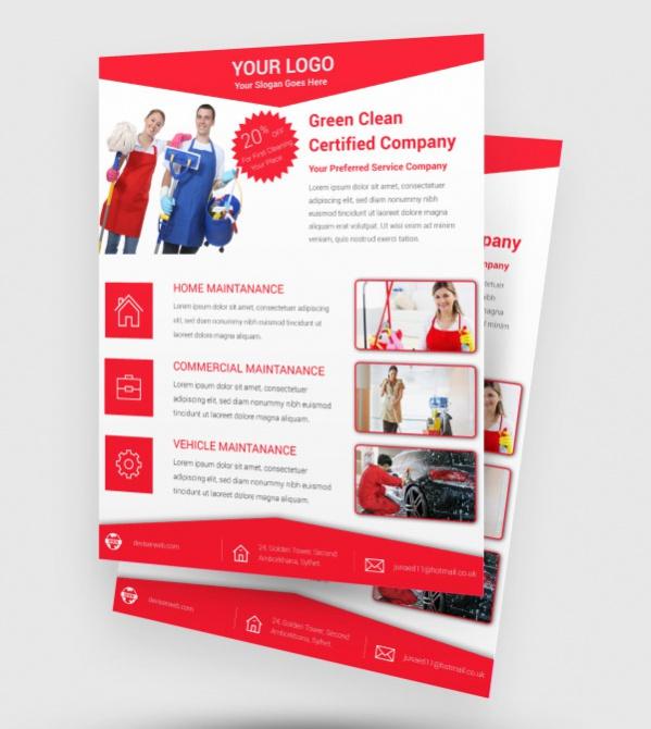 Free Cleaning Flyer Leaflet Design