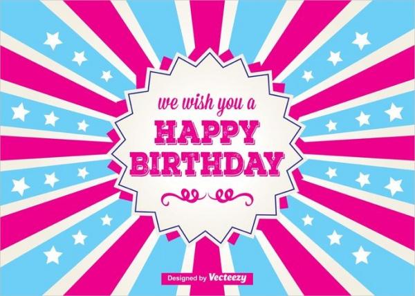 Free Colorful Birthday Card