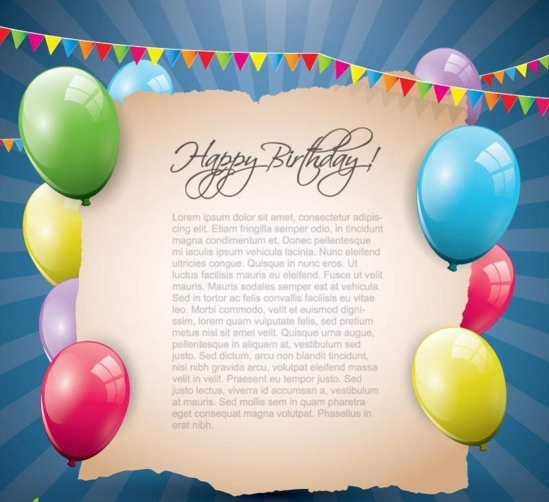 free colorful birthday greetings
